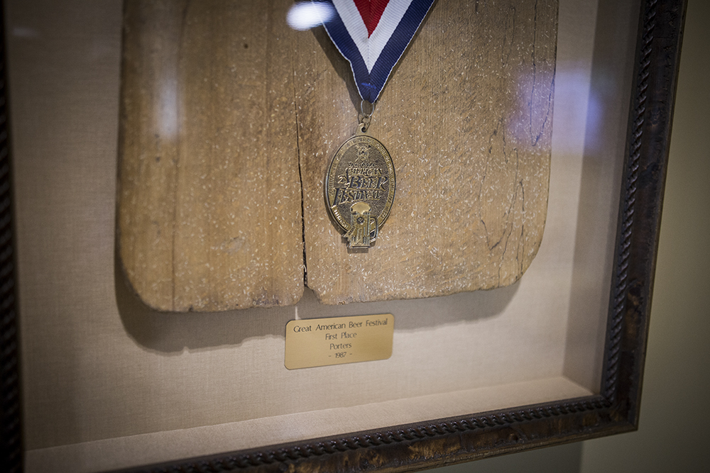 Summit Brewing's medal for Great Northern Porter from the 1987 GABF // Photo by Aaron Davidson