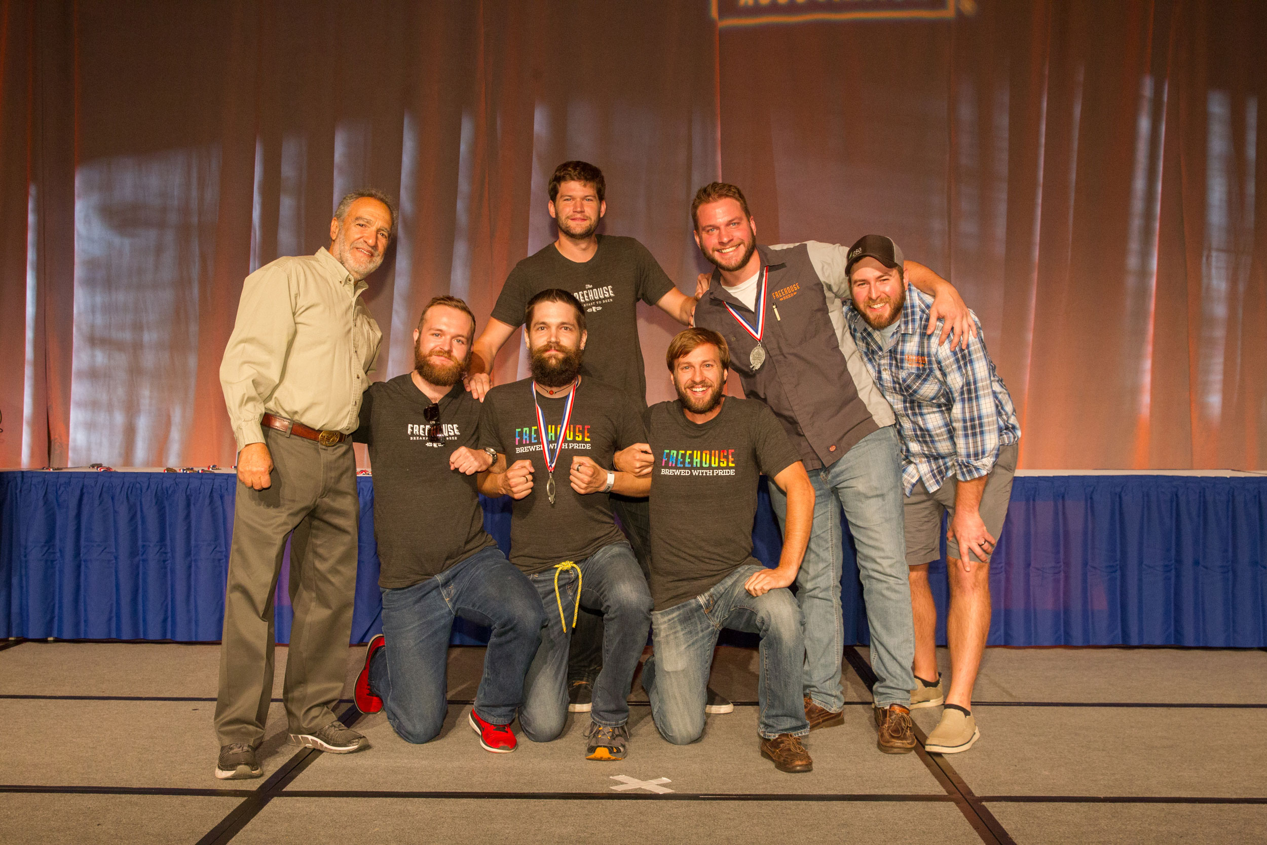 Matt Asay and The Freehouse brewing team accepted two medals at the 2017 GABF // Photo © 2017 Jason E. Kaplan