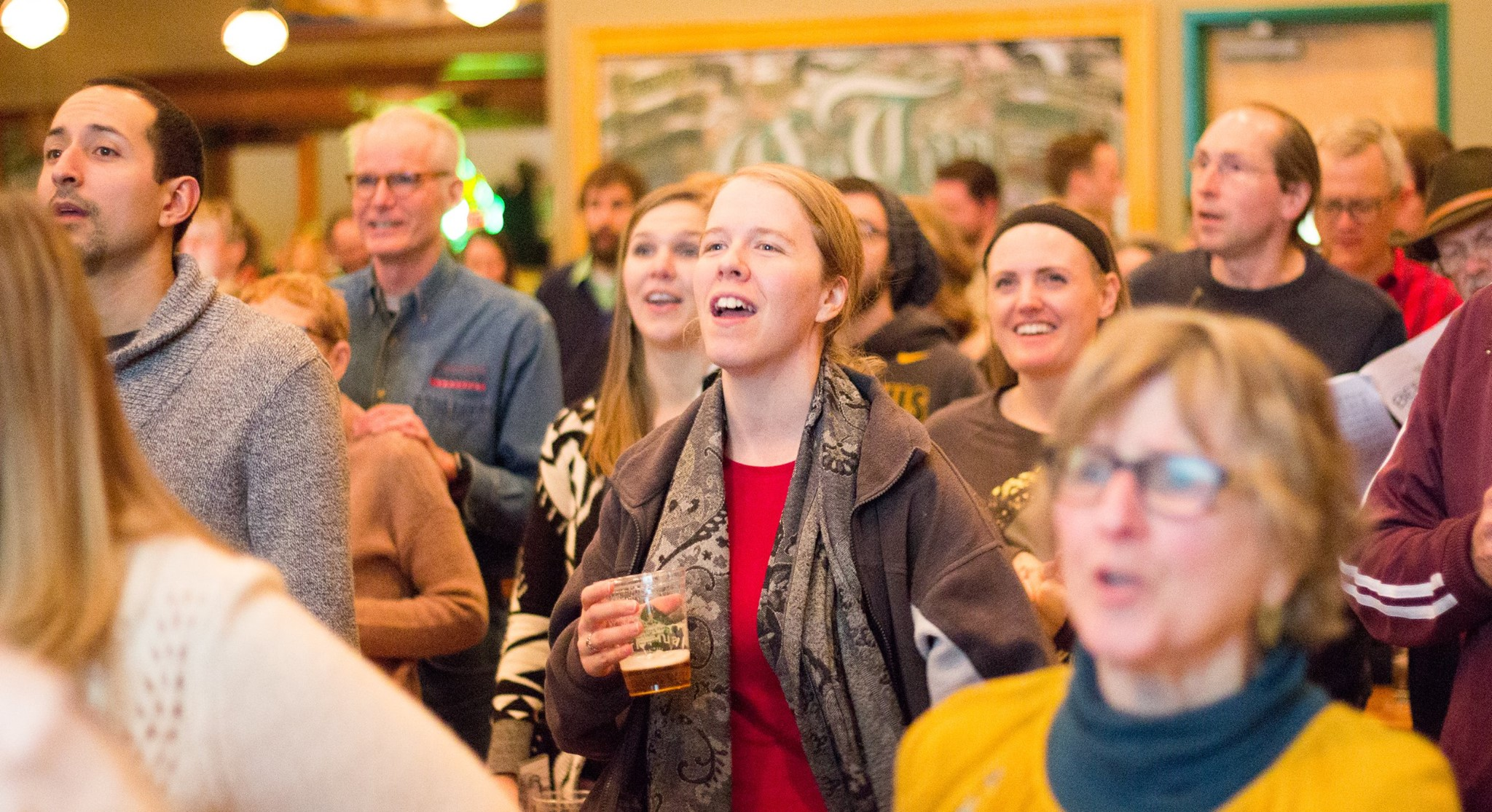Beer Choir Twin Cities events draws singers, young and old // Photo via Beer Choir Twin Cities' Facebook