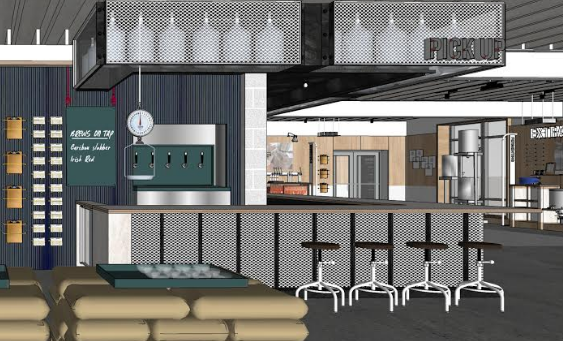 Rendering of Northern Brewer's new tasting bar // Courtesy of Northern Brewer