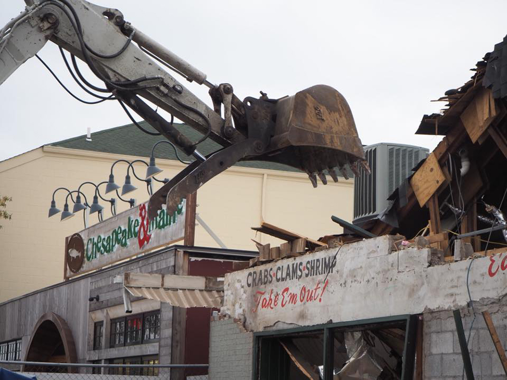 During demolition of the original site of the Rehoboth Beach Brewpub, Dogfish Head found the remains of an even older seafood restaurant the building housed long ago // Photo Courtesy Dogfish Head Facebook