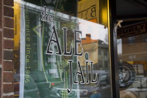 The Ale Jail's exterior glass windows // Photo by Brian Kaufenberg