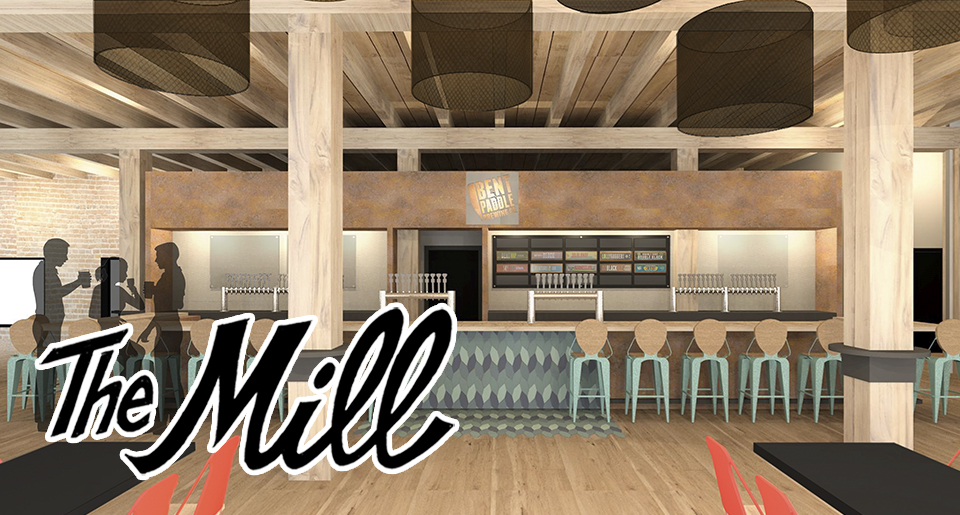 Rendering of Bent Paddle's new taproom // Photo courtesy of Bent Paddle Brewing Company