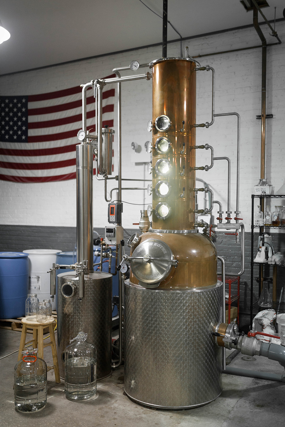 The still at Maplewood Brewery // Photo courtesy of Maplewood Brewery