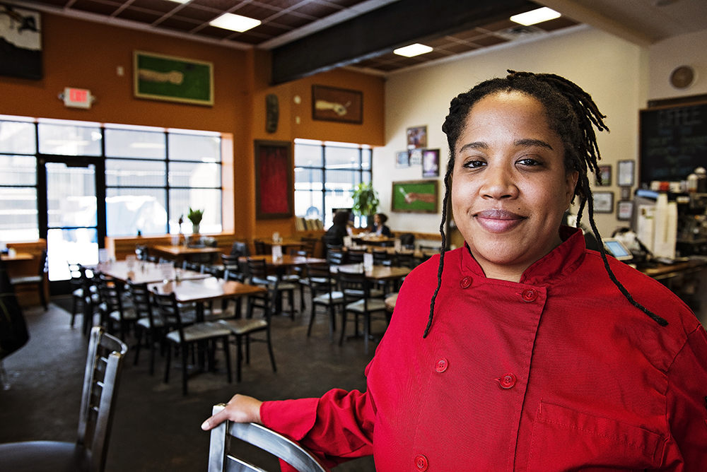Lachelle Cunningham at Breaking Bread in North Minneapolis // Photo by Madalyn Rowell