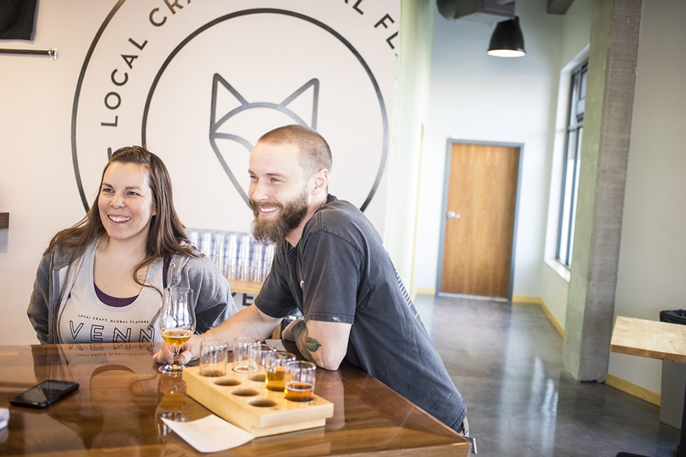 Venn Brewing owners Connie and Kyle Sisco // Photo Tj Turner