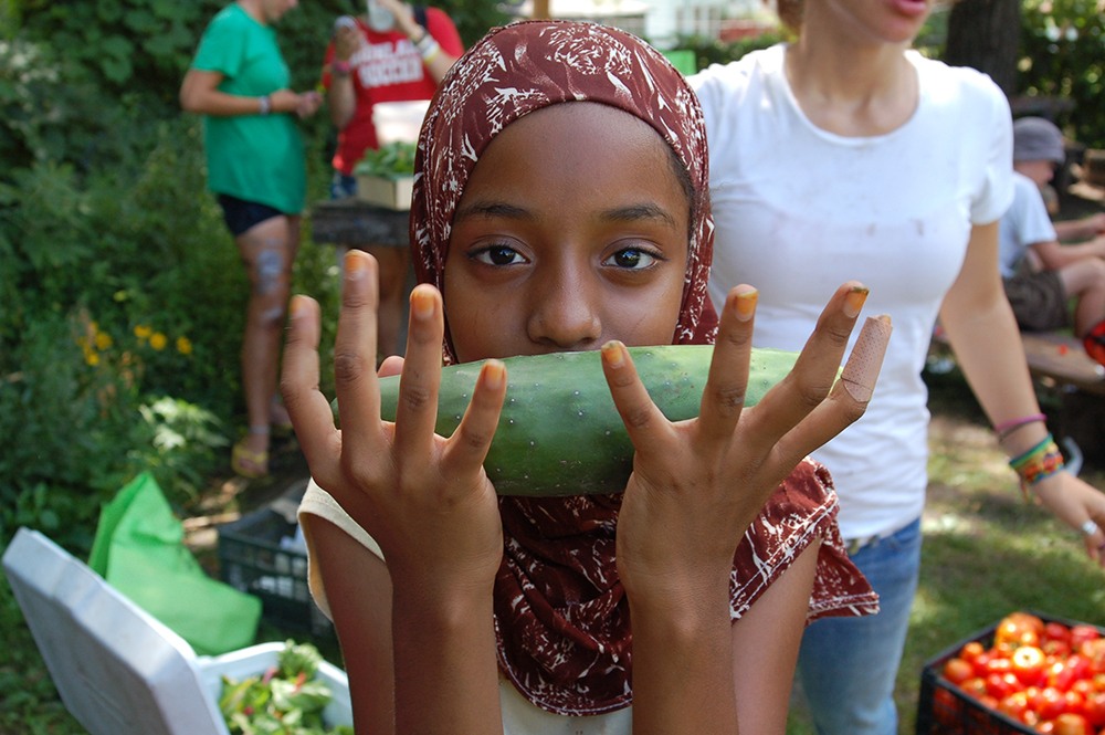 A youth worker at Youth Farm's West Side // Photo courtesy of Youth Farm