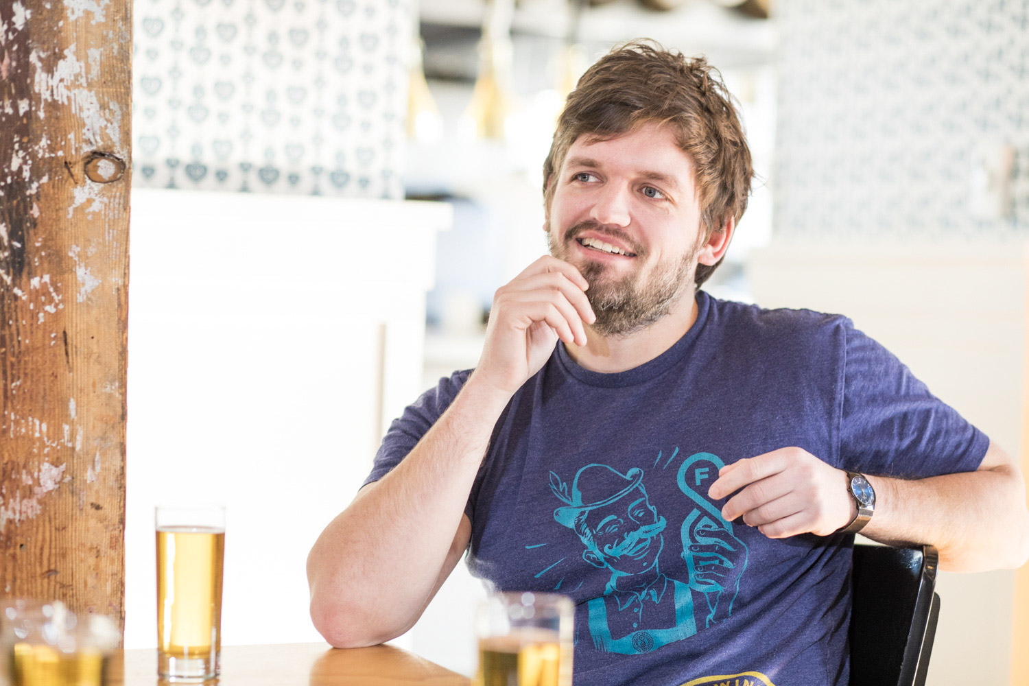 Evan Sallee, president and CEO of Fair State Brewing Cooperative // Photo by Tj Turner