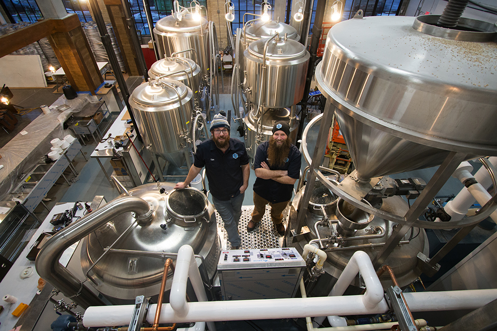 Tim Kessler, left, and Max Filter, right, of Dual Citizen Brewing Company // Photo by Aaron Job