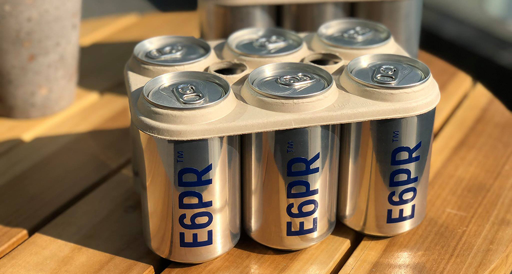 Eco Six Pack Ringsare edible, biodegradable can carriers and are safer for marine life than plastic holders // Photo courtesy of E6PR