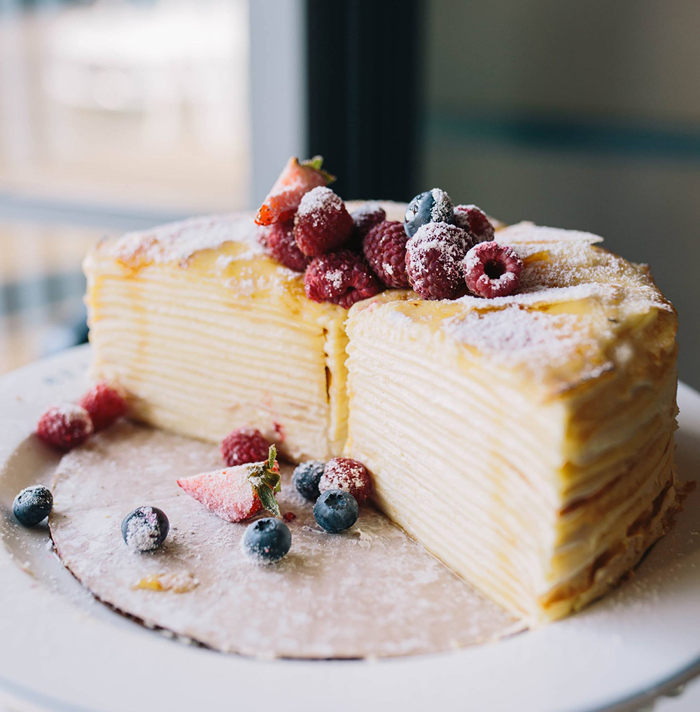 A Crepe Cake from Bellecour Restaurant // Photo courtesy Bellecour Restaurant Facebook