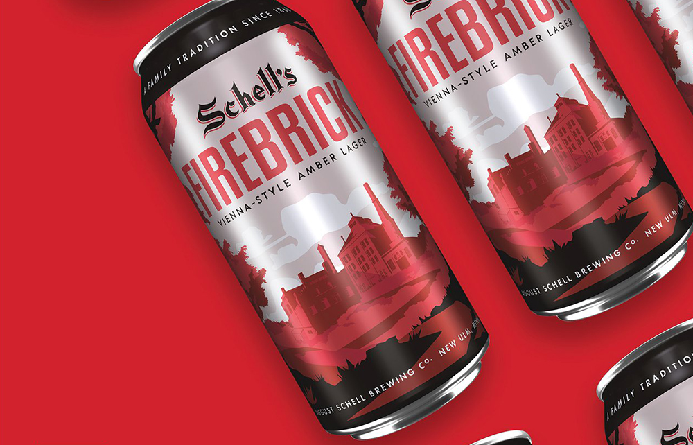 August Schell's Brewing Company will now offer their staple Firebrick in 16oz. cans // Photo courtesy August Schell's Brewing Company Facebook