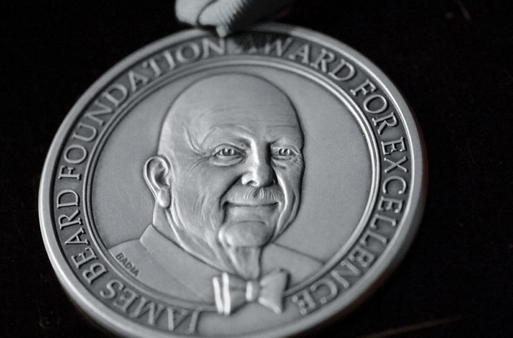 James Beard Foundation Award for Excellence medal // Photo via James Beard Foundation Facebook