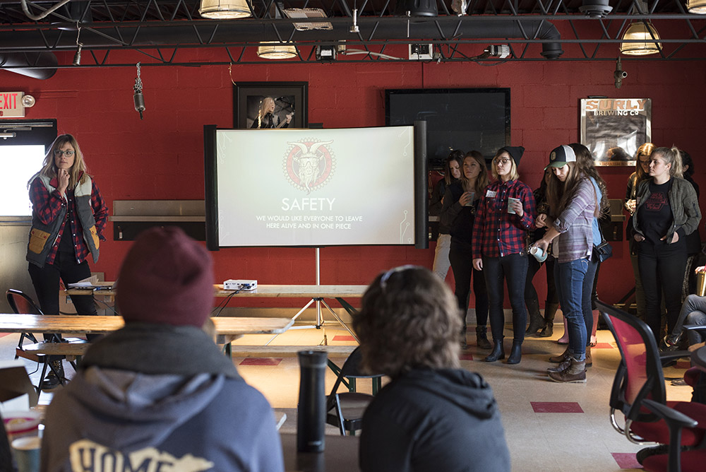 Participants in the third annual Witch Hunt brew day listening to educational seminars // Photo by Madalyn Rowell