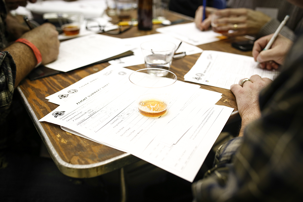 Judging at the Beer Dabbler's Homebrew Contest // Photo by Aaron Davidson
