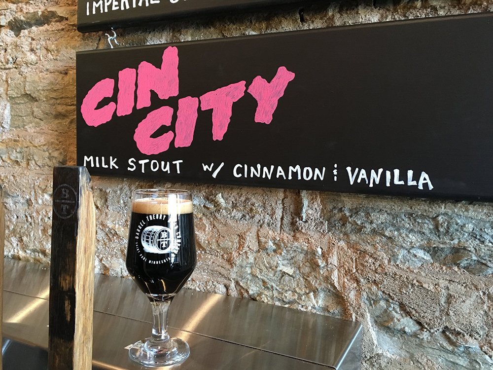 Barrel Theory Beer Company's Cin City // Photo via Barrel Theory Beer Company Facebook