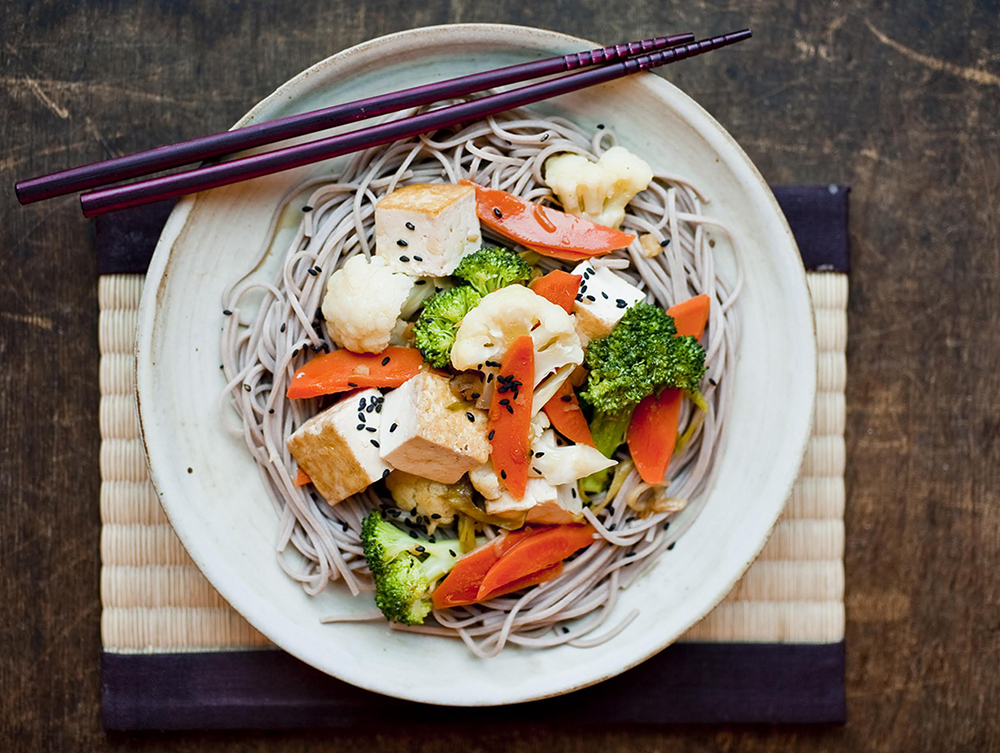 A Spoonriver Vegan special, Soba Noodles and Vegetables // Photo courtesy Spoon River