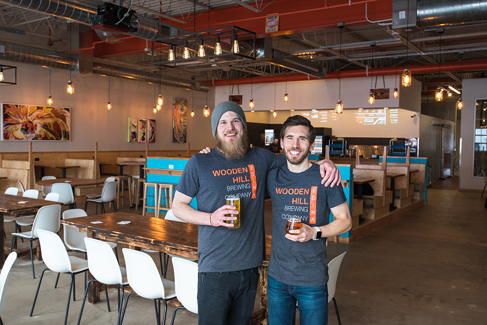 James and Sean Ewen, founders of Wooden Hill Brewing in Edina // Photo by Kevin Kramer