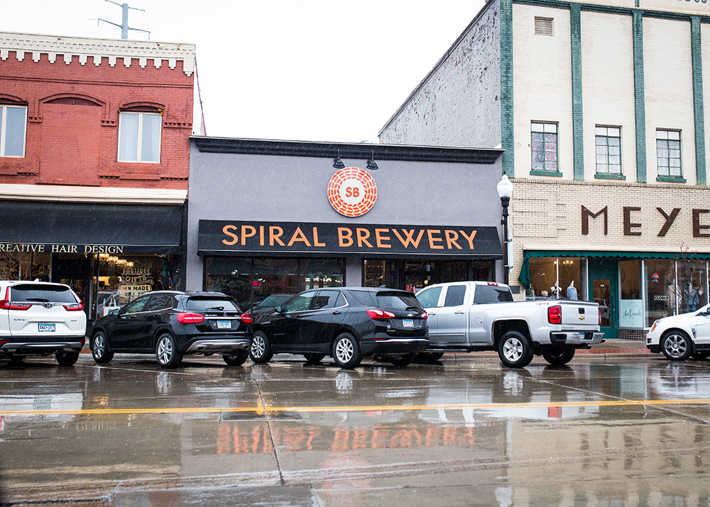 The exterior of Spiral Brewing Company // Photo by Aaron Davidson
