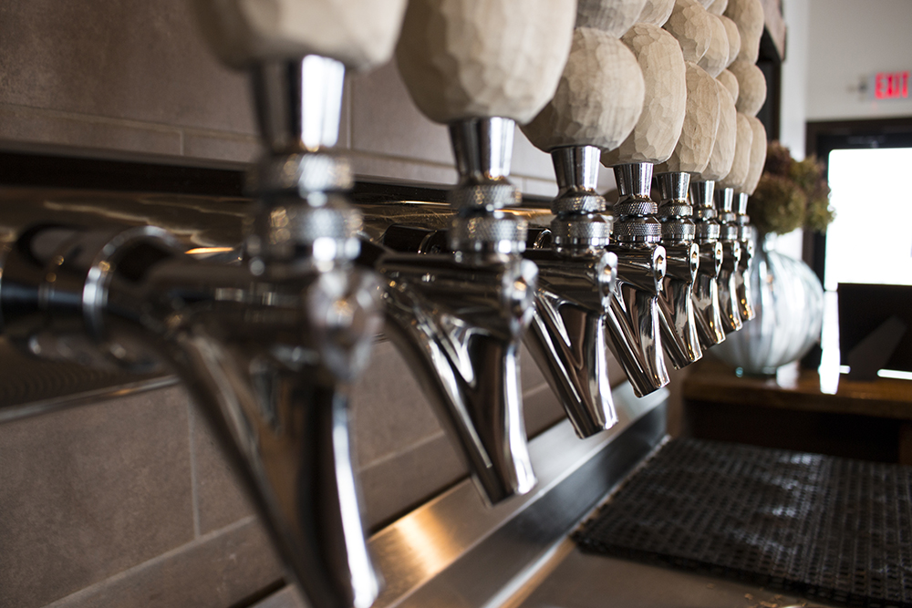 The taps of Milk & Honey Ciders // Photo Aaron Job