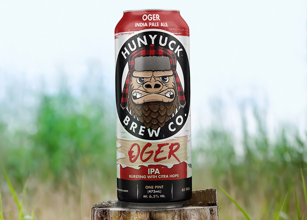 Hunyuck Brewing Company's OGER IPA, made with Citra Hops // Photo courtesy Hunyuck Brewing Company