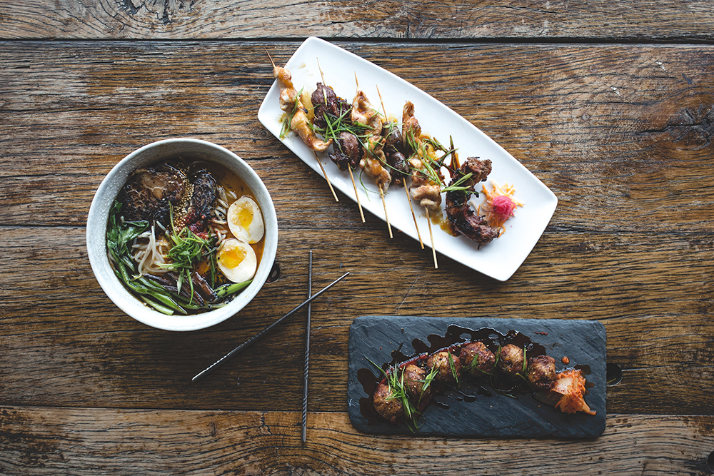 Various dishes at Tori 44 // Photo by Sam Ziegler