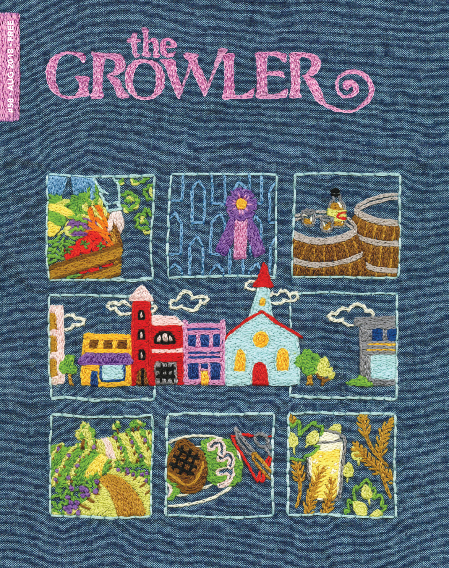 "Alanna Stapleton's work for the cover of The Growler's August issue, ""Heartland"""