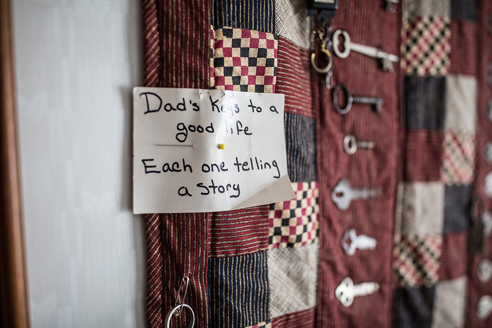 Rosemare's quilt for her dad // Photo by Chelsie Elizabeth Photography