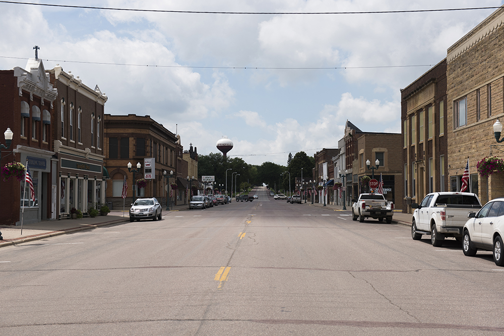 The main drag of Springfield, Minnesota // Photo by Stephen Maturen