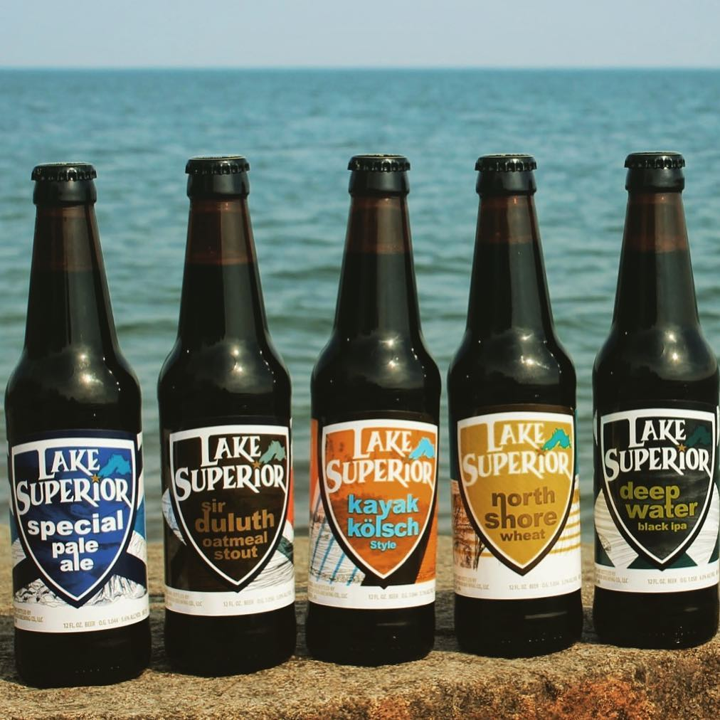 Lake Superior Brewing's beer lineup gets a fresh look // Photo via Lake Superior Brewing Company's Instagram