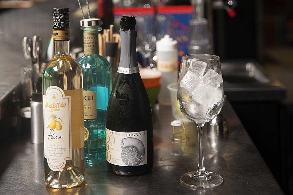 The ingredients for the Rosolio Spritzer at Icehouse // Photo by Katie Cannon