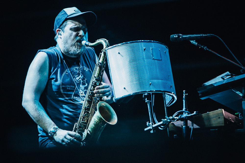Lewis playing the saxophone // Photo by Emmet Kowler, MPR