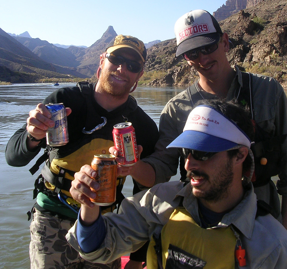 """Rafters with their """"cheap beers of choice"""" // Photo by James Hancock"""