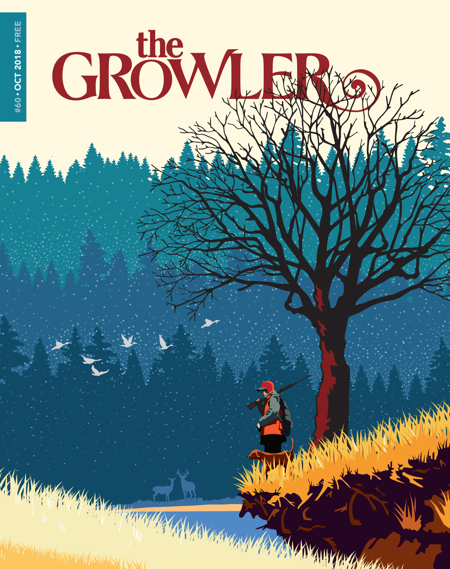 """The October """"Sporting Life"""" cover of The Growler by Mark Herman"""