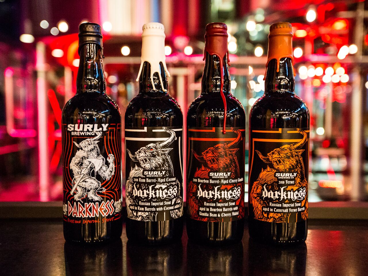 The 2018 Surly Darkness and Darkness variants // Photo courtesy Surly Brewing Company