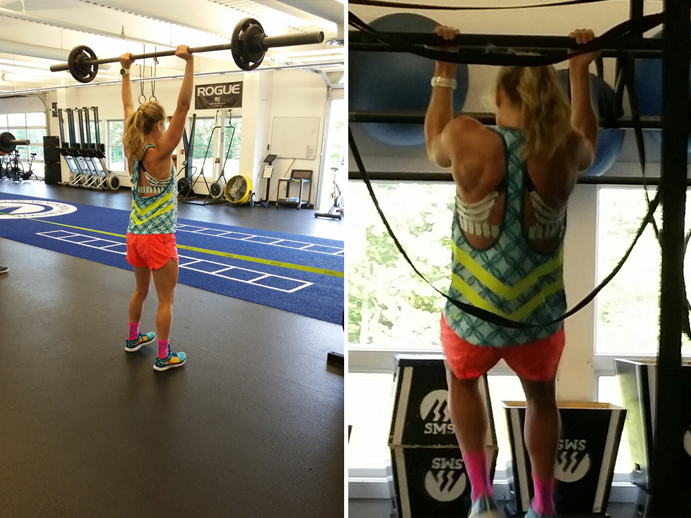 Jessie Diggins tearing up the gym during her second workout of the day // Photos by Todd Smith