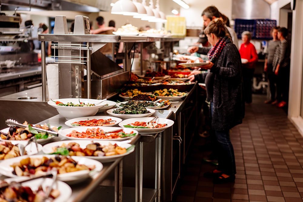 A line up of some of the dishes made for the dinner // Photo by Becca Dilley