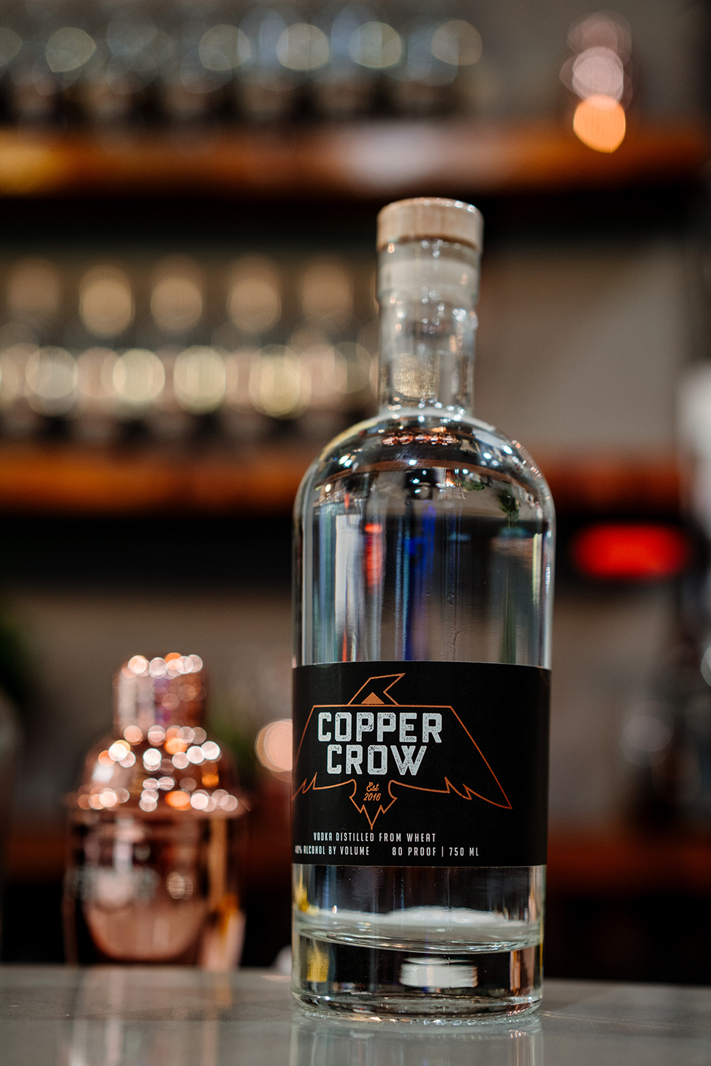 Copper Crow Distillery's Wheat Vodka // Photo by Becca Dilley