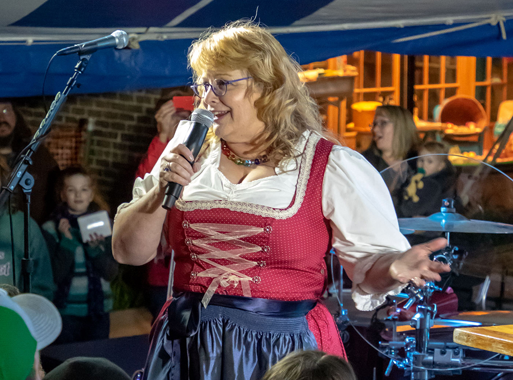 Deb Carey at an Oktoberfest celebration in 2018 // Photo by Sue Moen, courtesy New Glarus Brewing Company