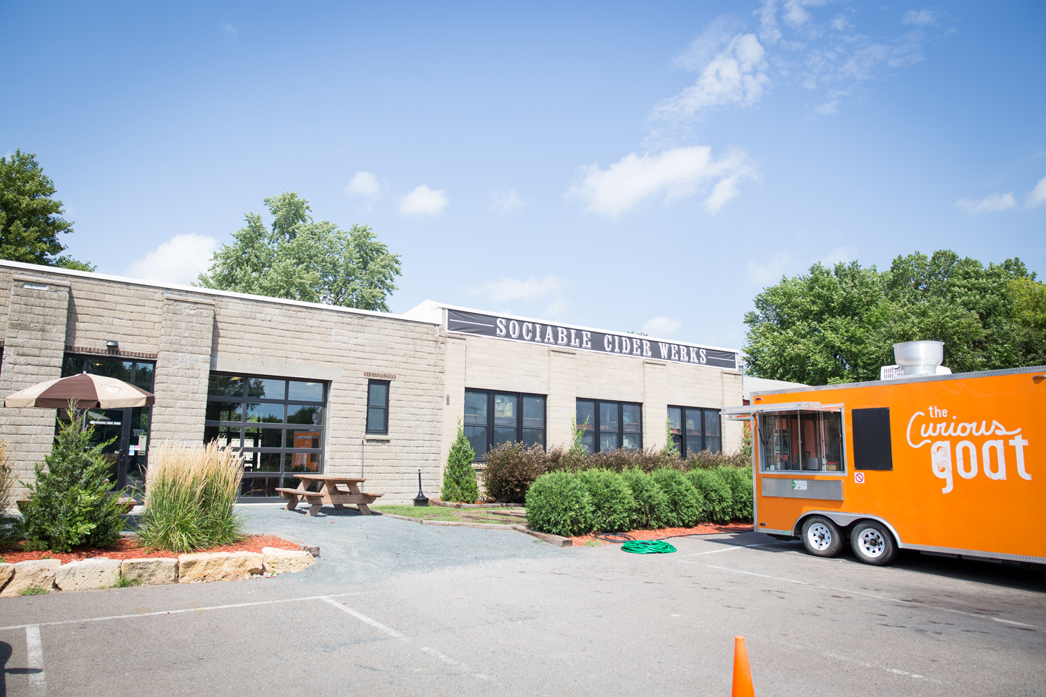 The Curious Goat food truck parked outside of Sociable Cider Werks in Northeast Minneapolis // Photo by Aaron Davidson