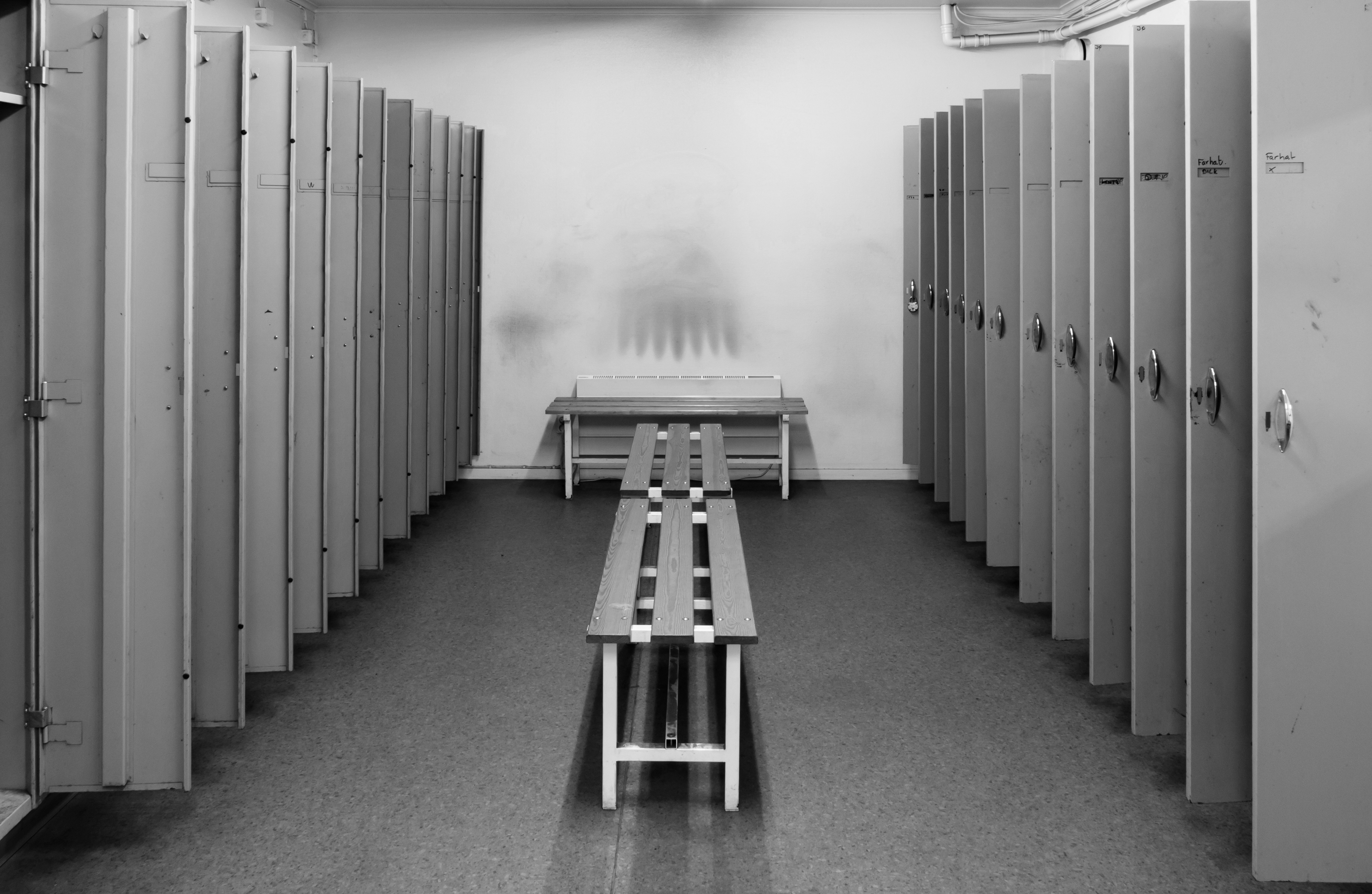 A locker room // Photo via Wikimedia Commons