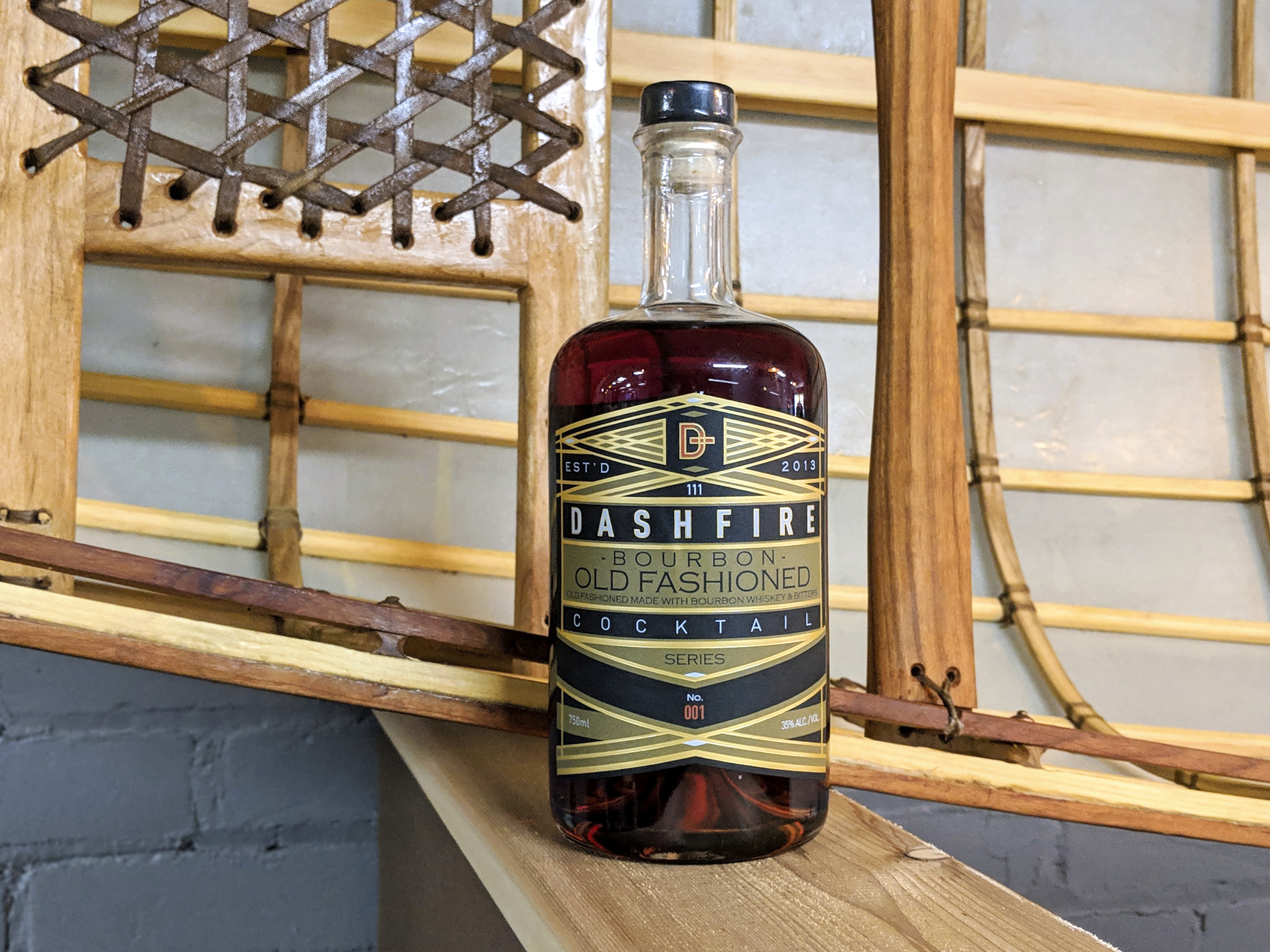 Dashfire's first bottled cocktail, a bourbon old fashioned, debuts this week // Photo by Ellen Burkhardt, The Growler