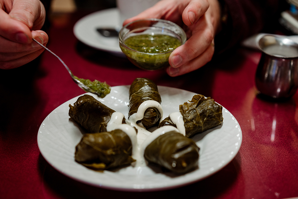 Stuffed Grape Leaves // Photo by Becca Dilley