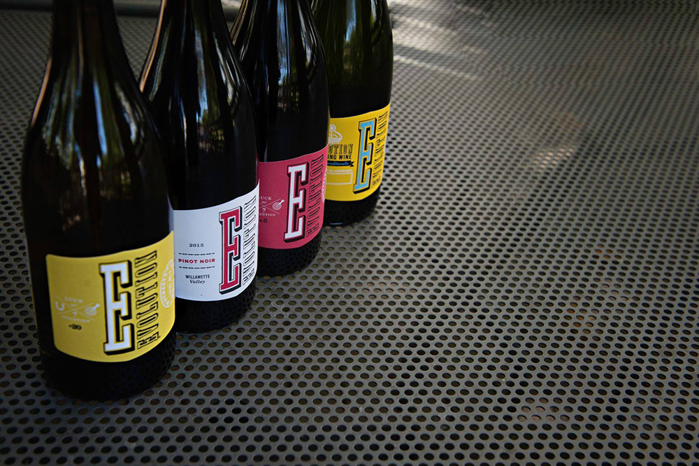 A selection of the Evolution second label offering from the Sokol Blosser family from the Dundee Hills of Oregon // Photo via Evolution Wines Facebook