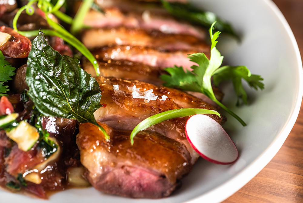 The Thai Basil duck // Photo by Kevin Kramer
