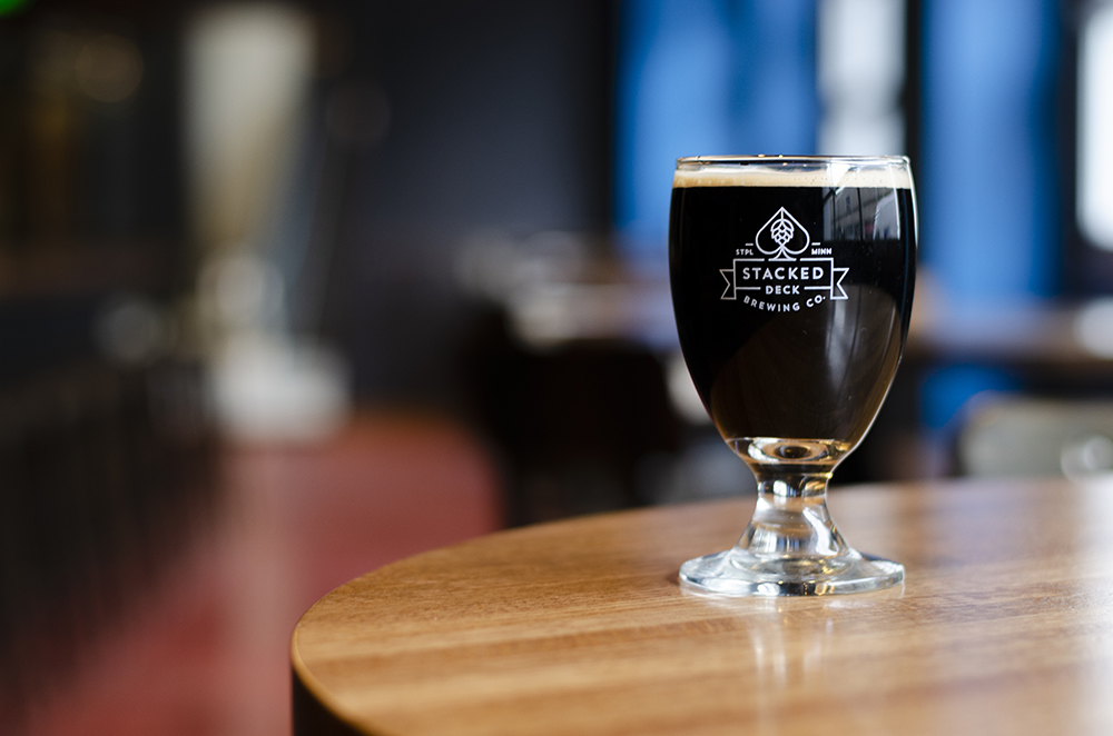 Stacked Deck Brewing Company's Snaggletooth, their take on a breakfast stout // Photo by Aaron Job