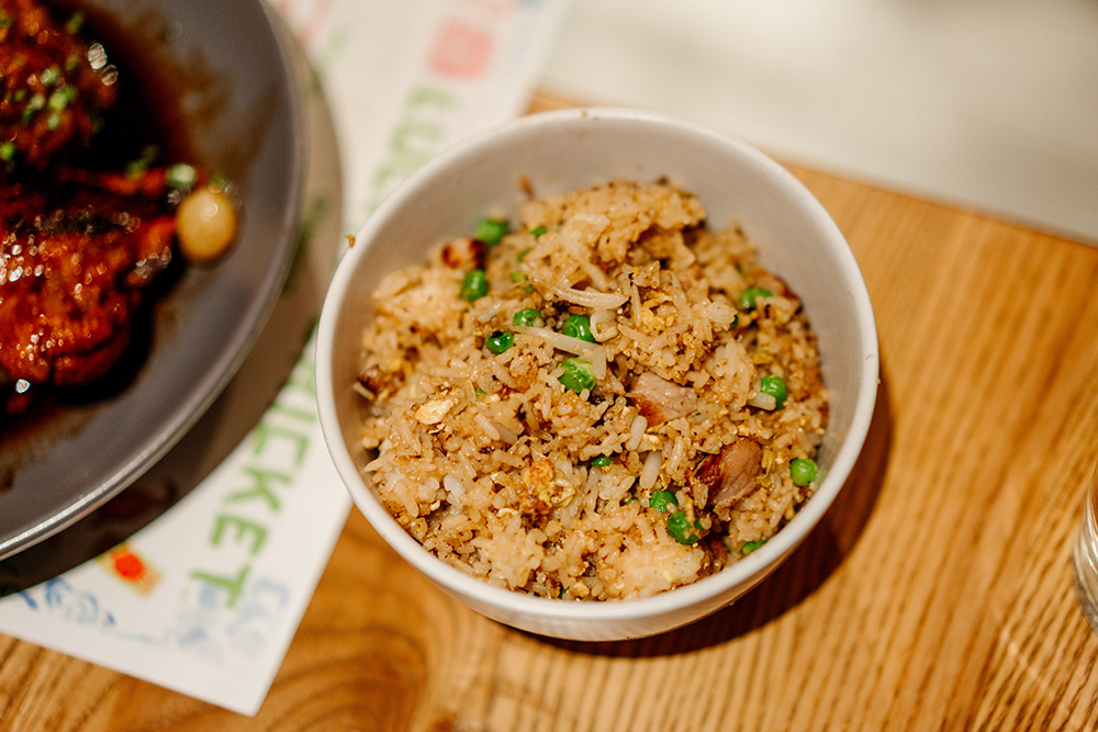 Lucky Cricket's fried rice // Photo by Becca Dilley