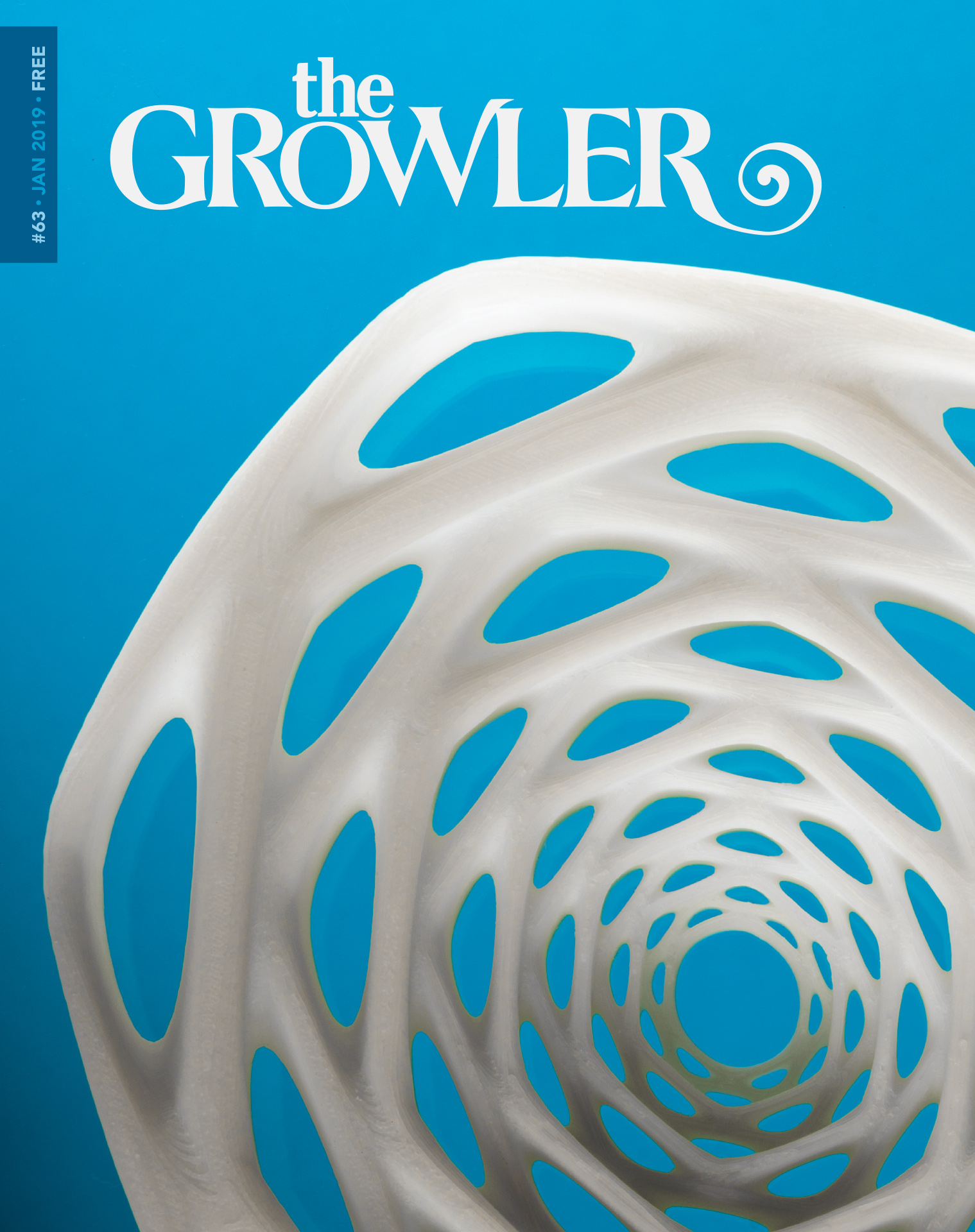 The cover created by Brad Jirka for the Growler's January issue, and photographed by Tj Turner