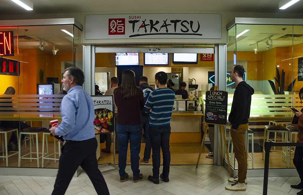 Sushi Takatsu in the Baker Center // Photo by Aaron Job