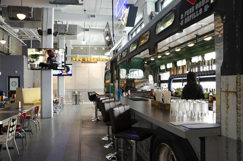 Bus Stop Burgers and Brewhouse will soon have its own house beer on tap using a SmartBrew system // Photo by Aaron Job